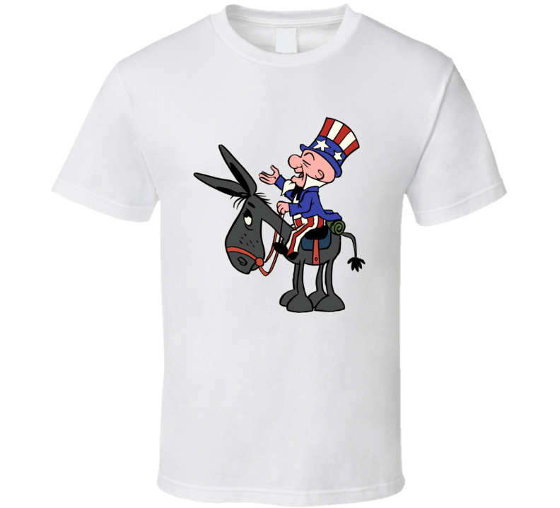 Uncle Sam Mr Magoo America Retro Cartoon Election T Shirt