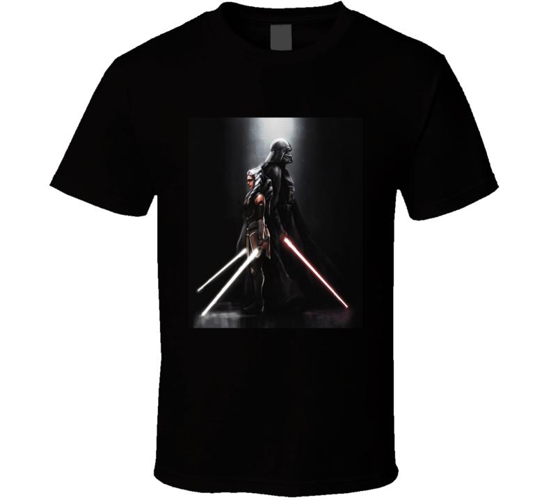 Star Wars Darth Vader Ahsoka Tano Anakin Clone Wars Rebels T Shirt