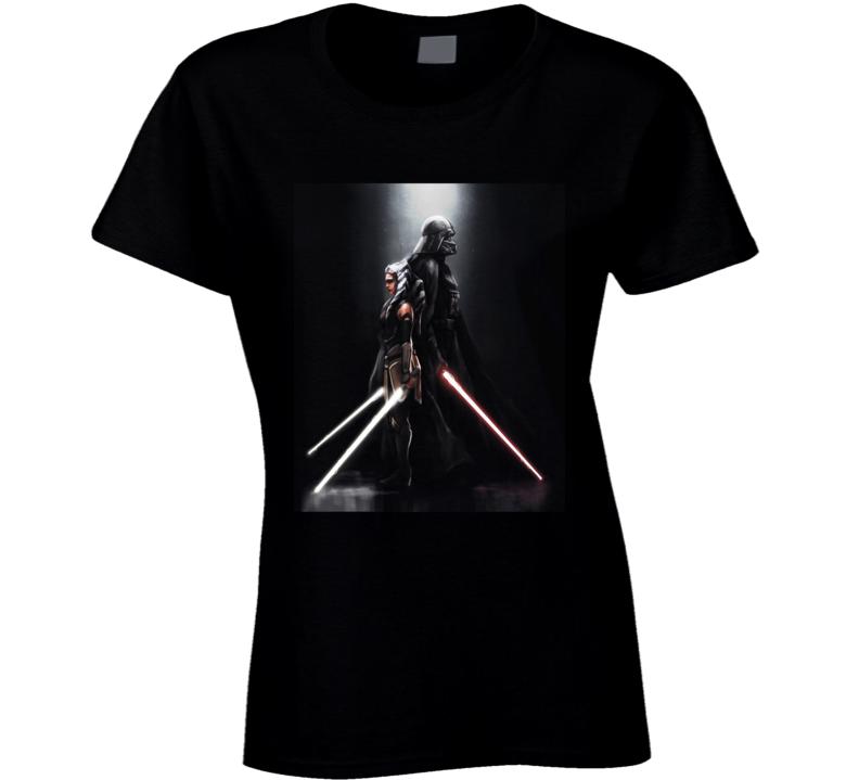 Star Wars Darth Vader Ahsoka Tano Anakin Clone Wars Rebels Ladies T Shirt