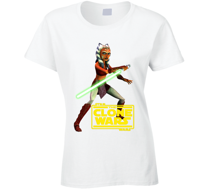 Star Wars Ahsoka Tano Clone Wars Rebels Jedi Ladies T Shirt