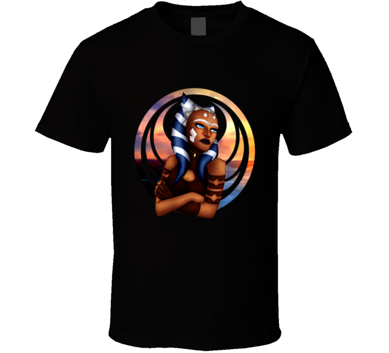 Star Wars Ahsoka Tano Clone Wars Rebels Jedi Symbol T Shirt