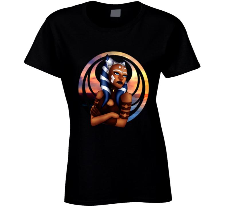 Star Wars Ahsoka Tano Clone Wars Rebels Jedi Symbol Ladies T Shirt