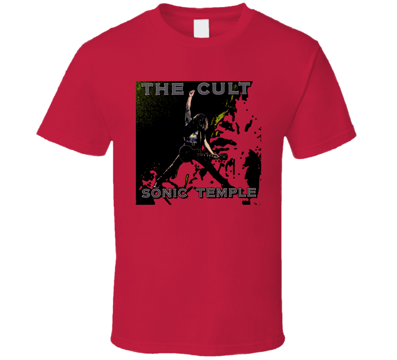 The Cult Sonic Temple Album Cover Music T Shirt