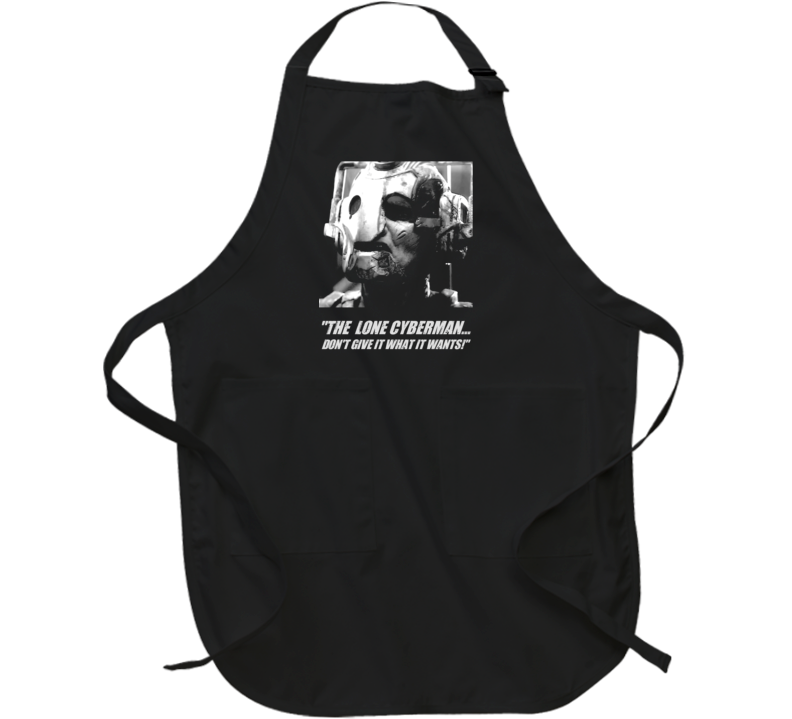 Doctor Who Lone Cyberman Captain Jack Quote Tv Show Apron