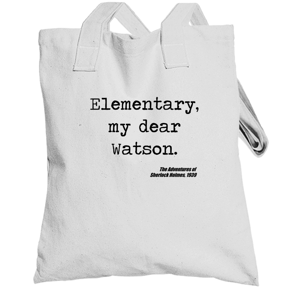 Adventures Of Sherlock Holmes Classic Movie Quote Watson Totebag