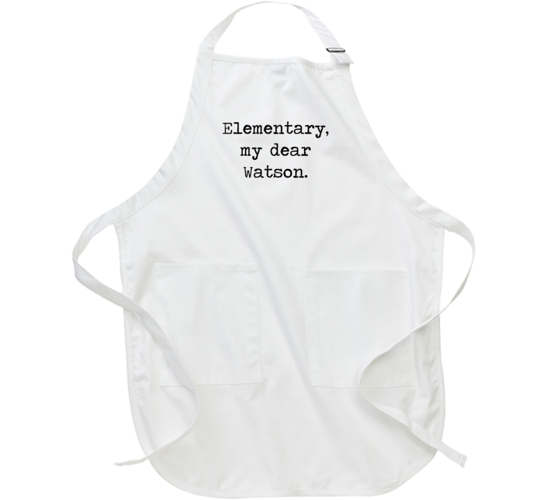 Adventures Of Sherlock Holmes Classic Movie Quote Apron