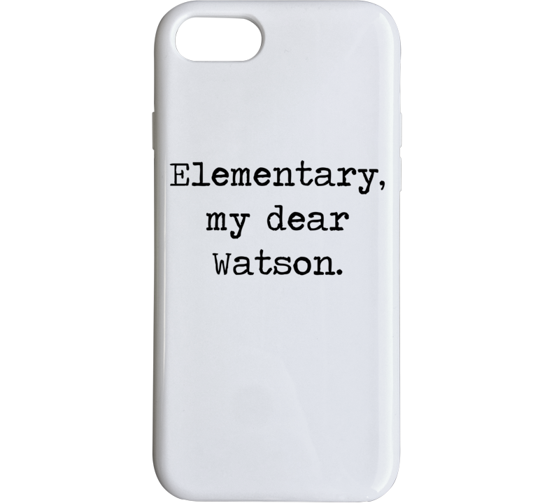Adventures Of Sherlock Holmes Classic Movie Quote Phone Case