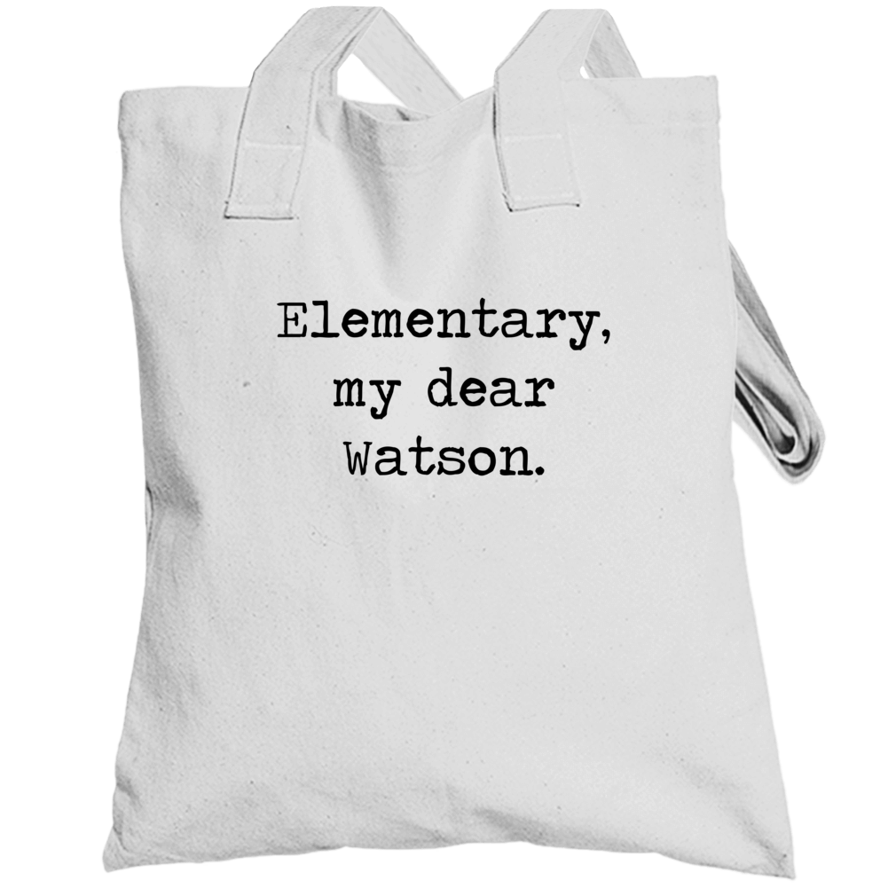 Adventures Of Sherlock Holmes Classic Movie Quote Totebag