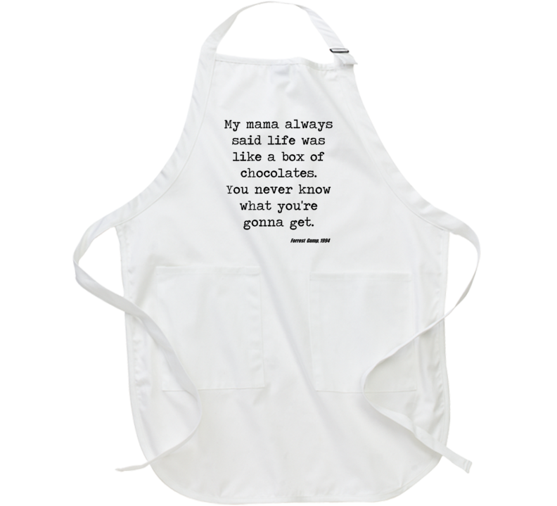 Forrest Gump Classic Movie Quote Tom Hanks Box Of Chocolate Apron