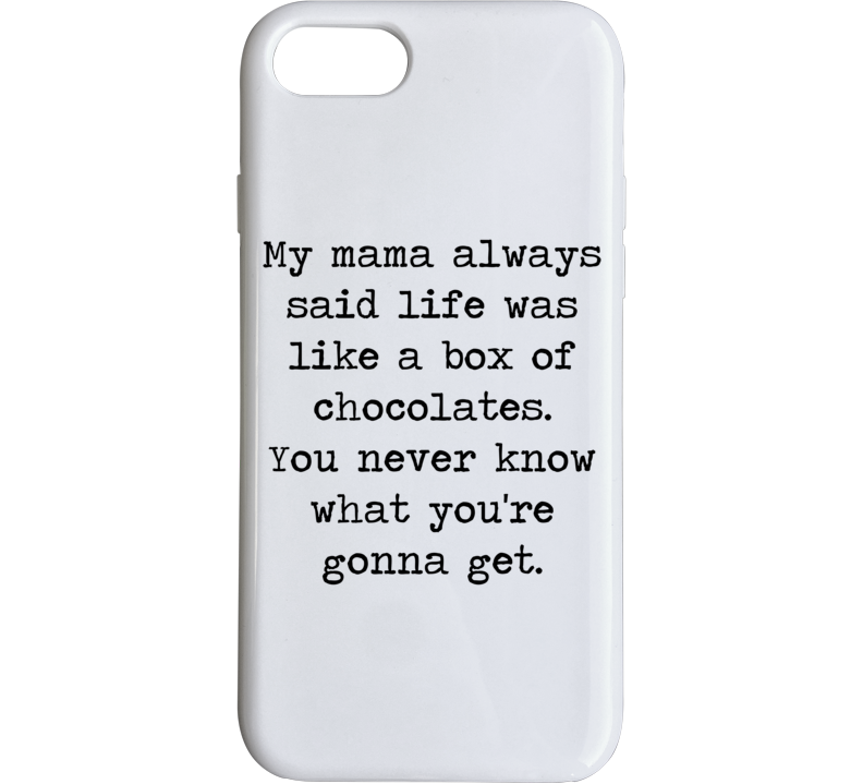 Forrest Gump Classic Movie Tom Hanks Box Of Chocolate Quote Phone Case