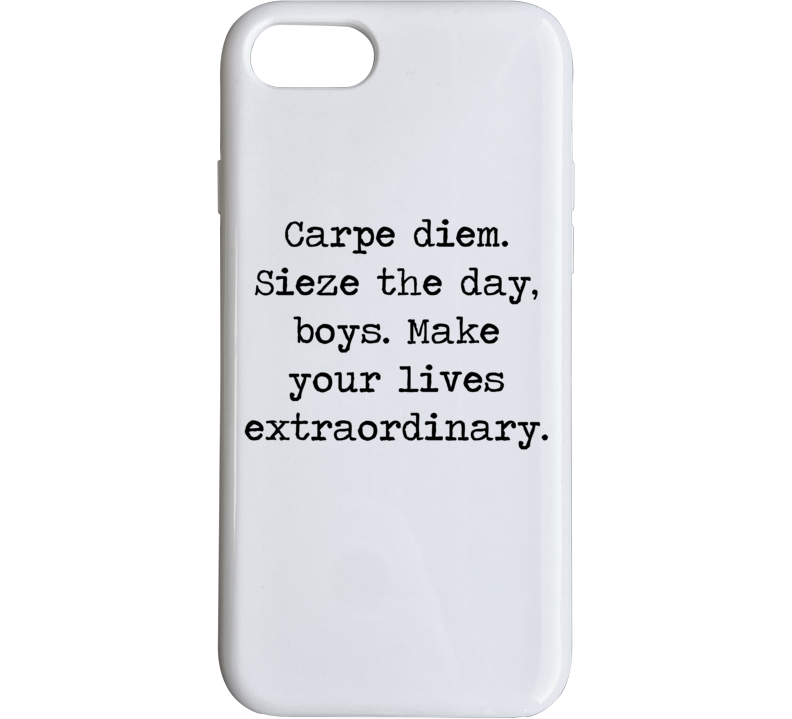 Dead Poets Society Classic Movie Robin Williams Quote Phone Case