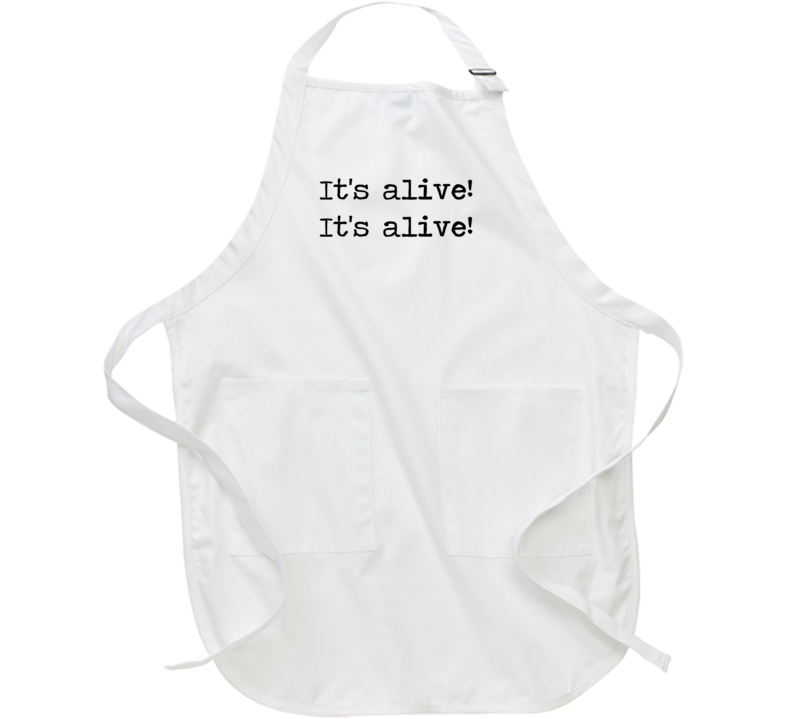 Frankenstein Horror Universal Movie Its Alive Quote Apron