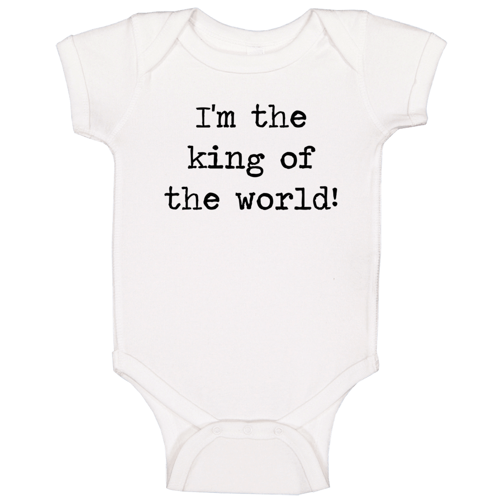 Titanic Classic Movie King Of The World Quote Baby One Piece