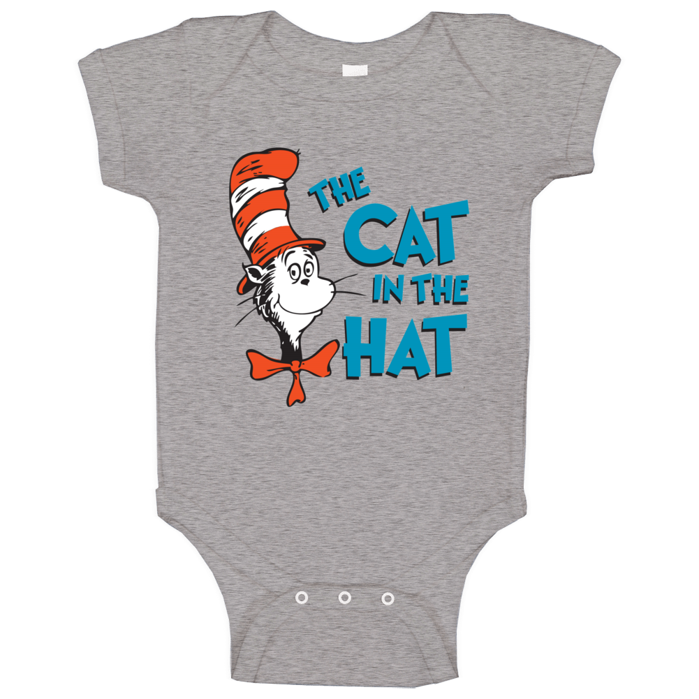 Cat In The Hat Logo Book Seuss Baby One Piece