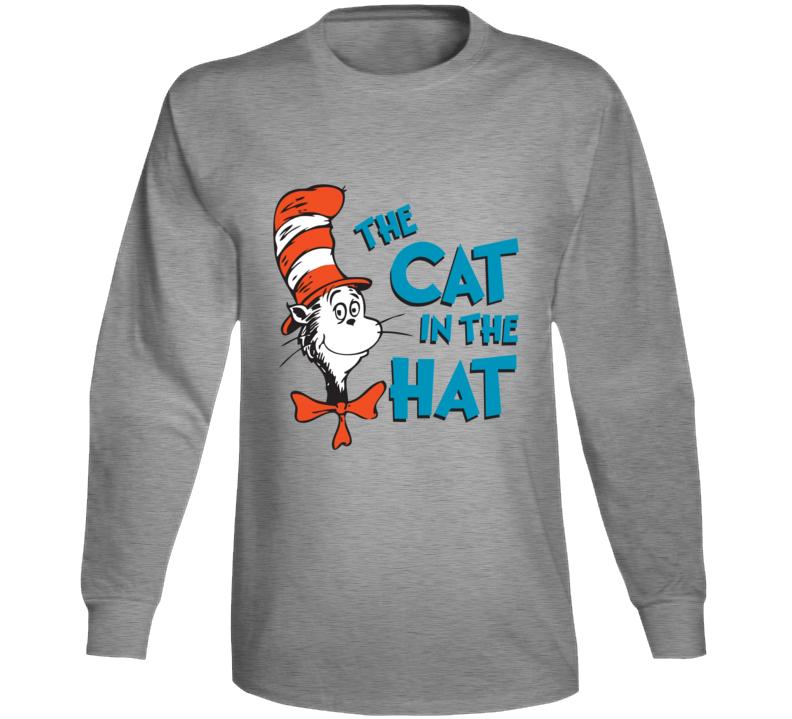 Cat In The Hat Logo Book Seuss Long Sleeve