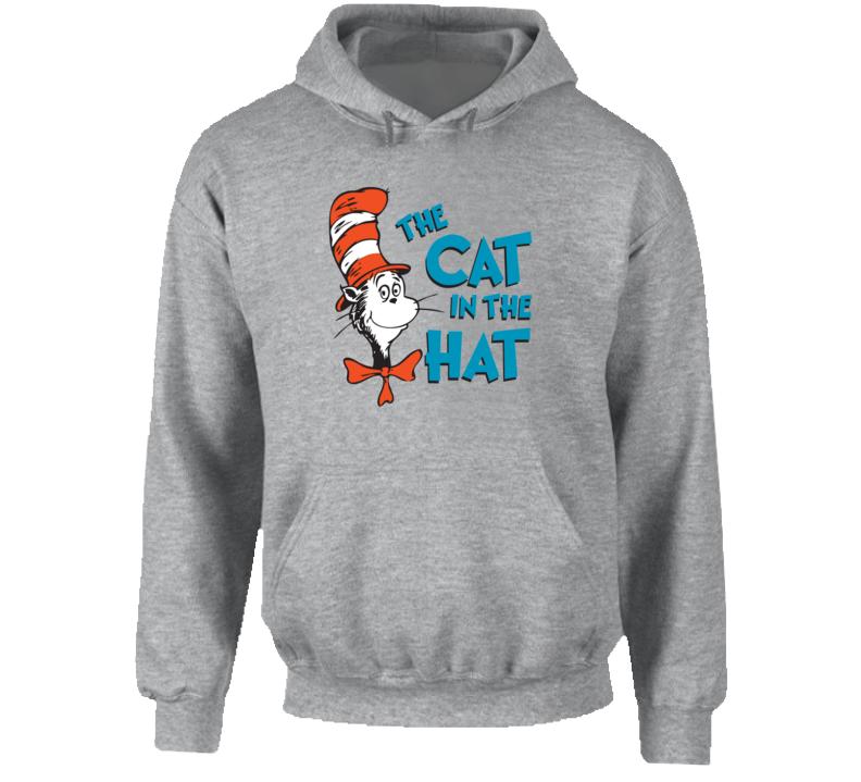Cat In The Hat Logo Book Seuss Hoodie