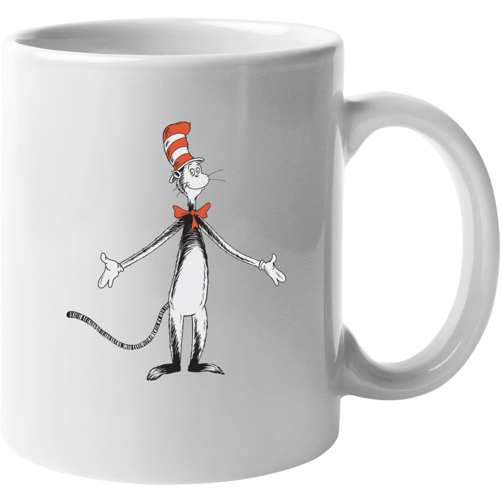 Cat In The Hat Art Figure Book Seuss Mug