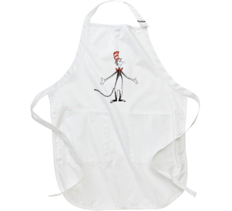 Cat In The Hat Art Figure Book Seuss Apron