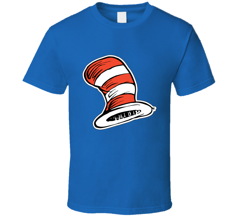 Cat In The Hat Art Red White Stripes Book Seuss T Shirt