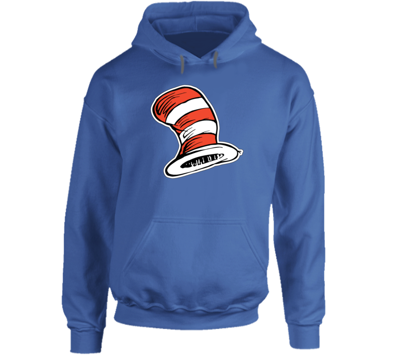 Cat In The Hat Art Red White Stripes Book Seuss Hoodie