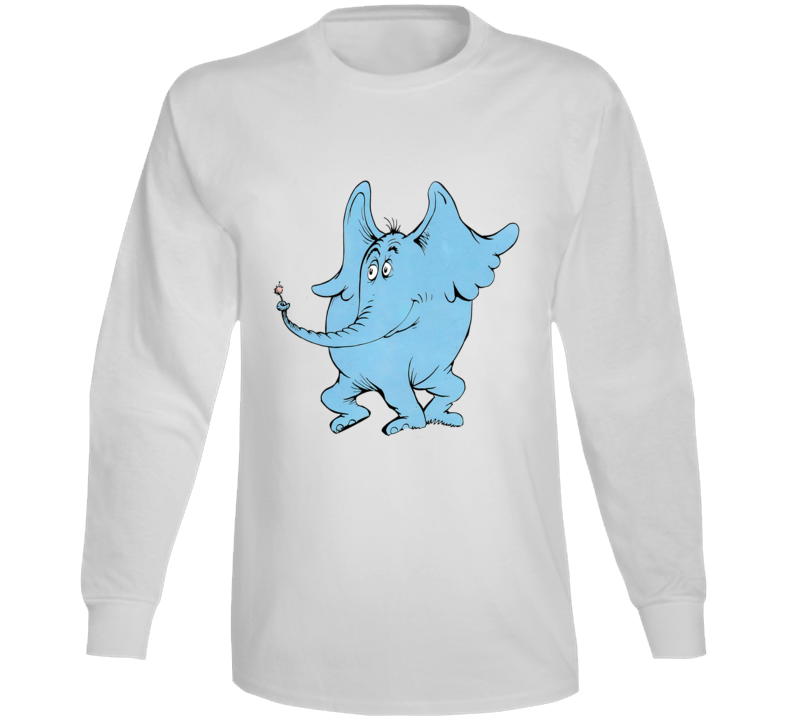 Horton Hears A Who Seuss Book Cartoon Movie Long Sleeve