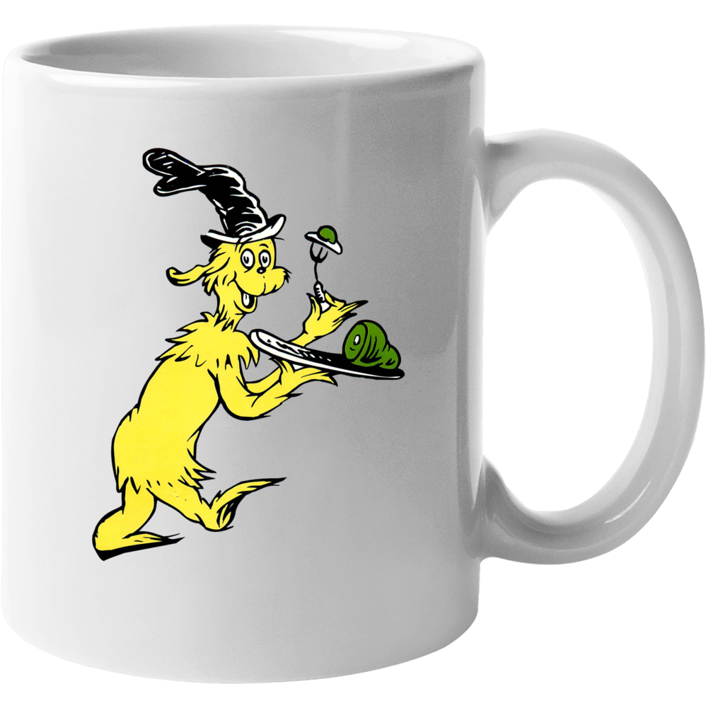 Green Eggs Ham Guy Am I Seuss Book Cartoon Mug