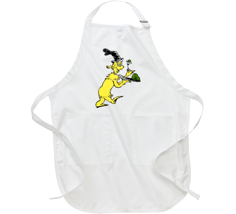 Green Eggs Ham Guy Am I Seuss Book Cartoon Apron
