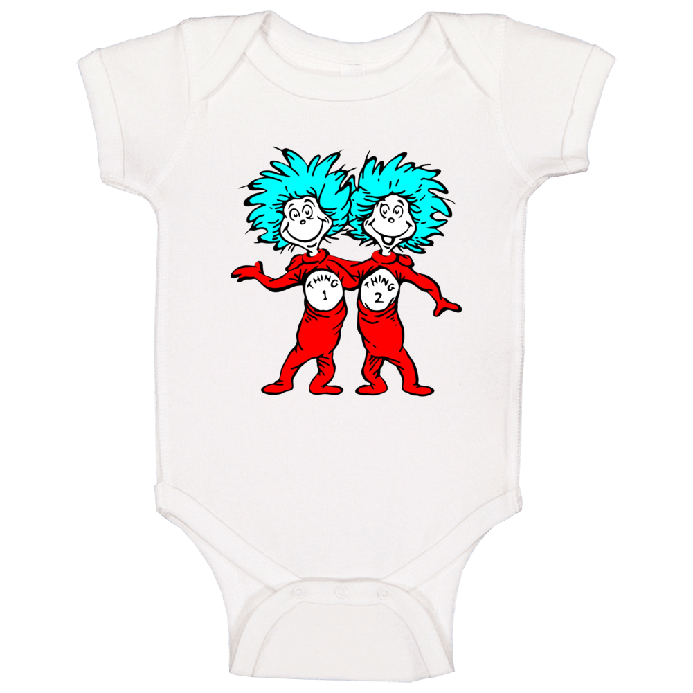 Cat In The Hat Things Thing 1 2 Seuss Book Cartoon Baby One Piece