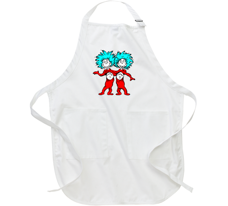 Cat In The Hat Things Thing 1 2 Seuss Book Cartoon Apron