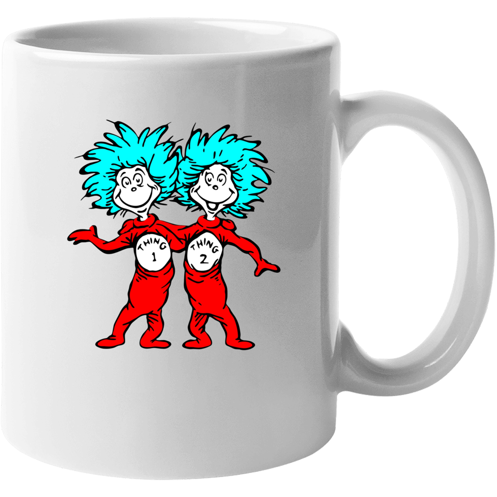 Cat In The Hat Things Thing 1 2 Seuss Book Cartoon Mug
