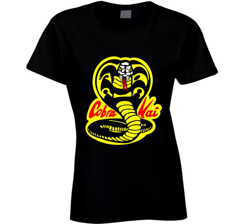 Cobra Kai Karate Kid Tv Show Movie Logo Ladies T Shirt