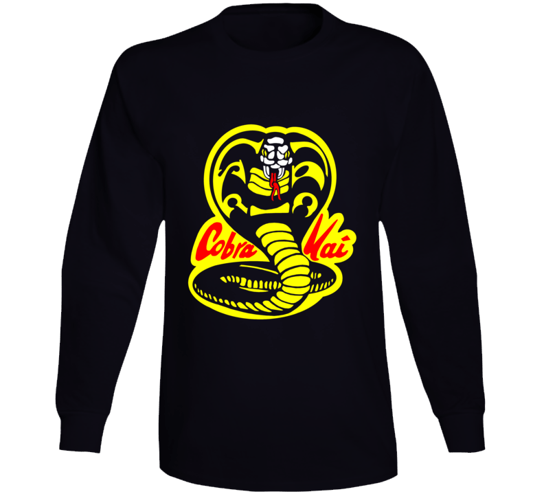 Cobra Kai Karate Kid Tv Show Movie Logo Long Sleeve T Shirt