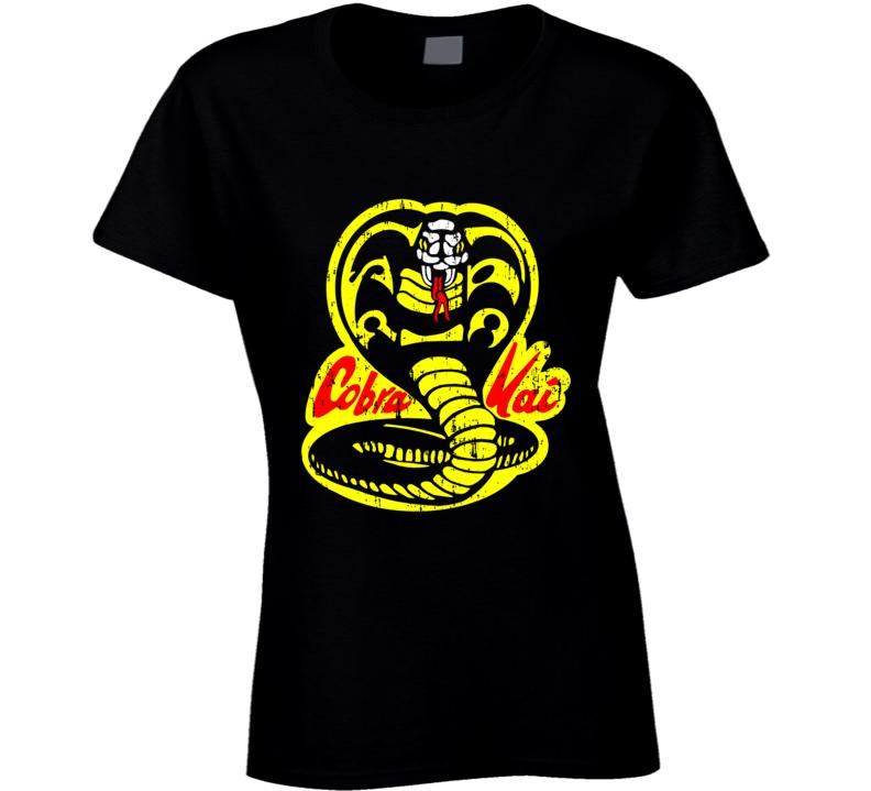 Cobra Kai Karate Kid Tv Show Movie Logo Aged Ladies T Shirt