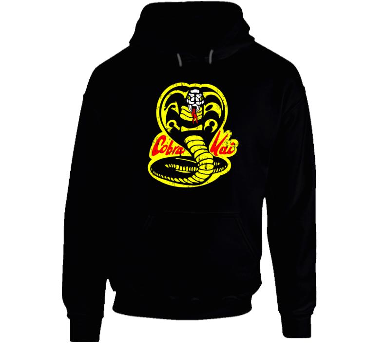 Cobra Kai Karate Kid Tv Show Movie Logo Aged Hoodie