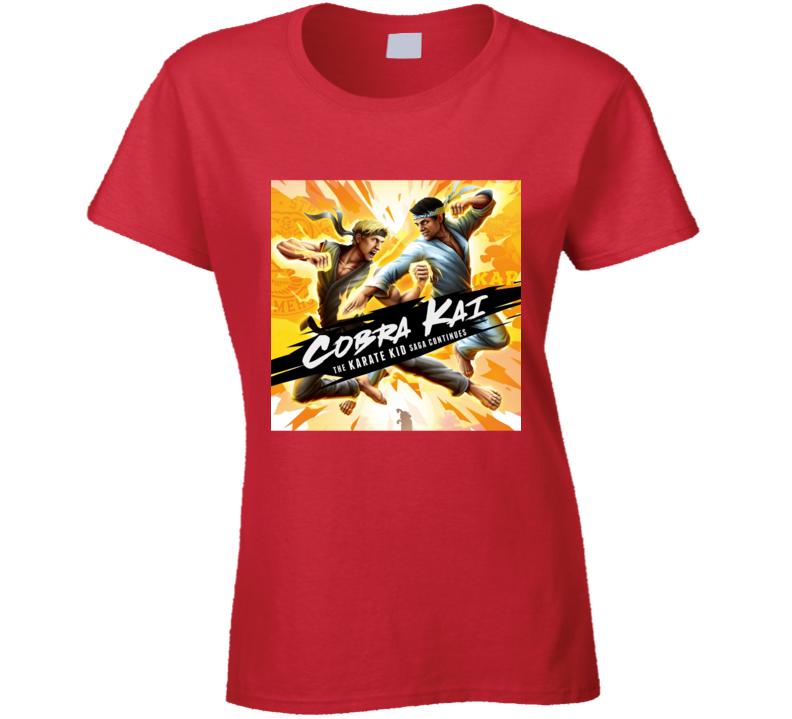 Cobra Kai Tv Show Karate Kid Saga Movie Ladies T Shirt
