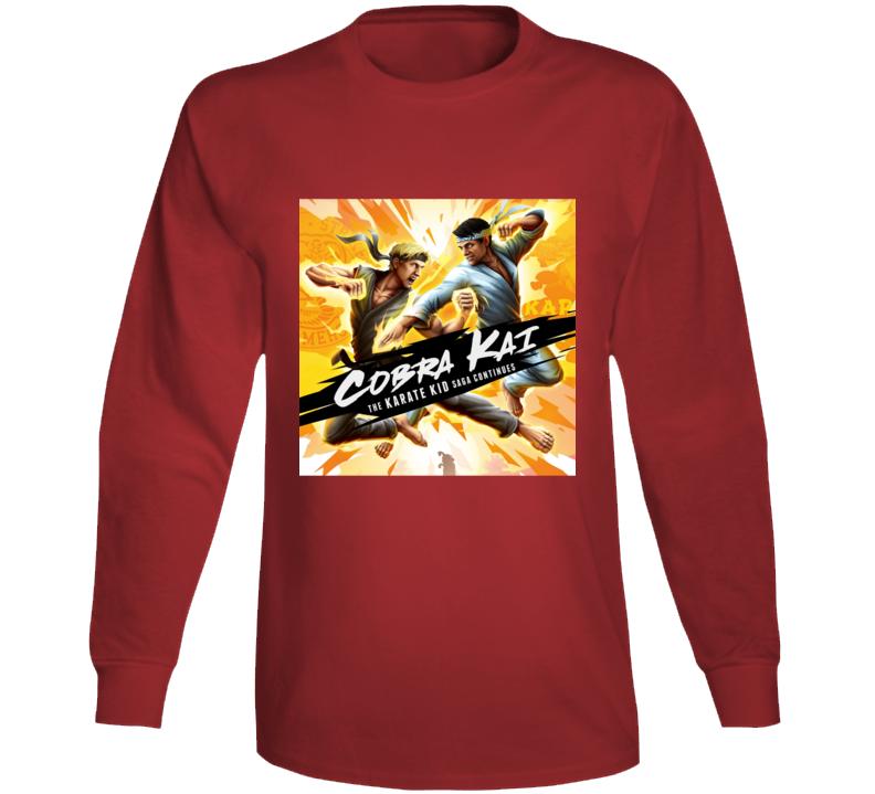 Cobra Kai Tv Show Karate Kid Saga Movie Long Sleeve T Shirt