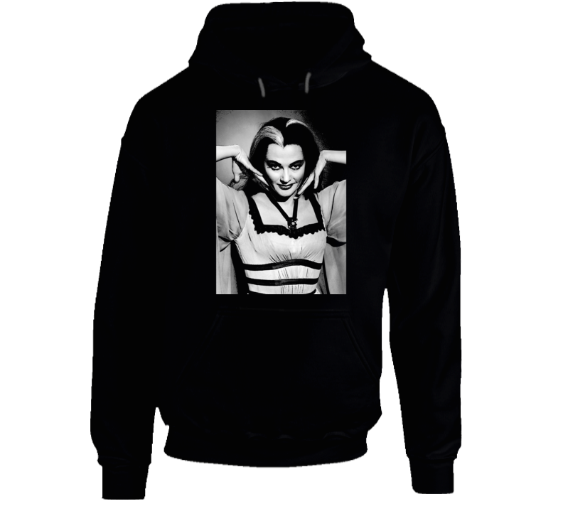 Lily Munster Art Photo Munsters Cult Tv Show Black Hoodie