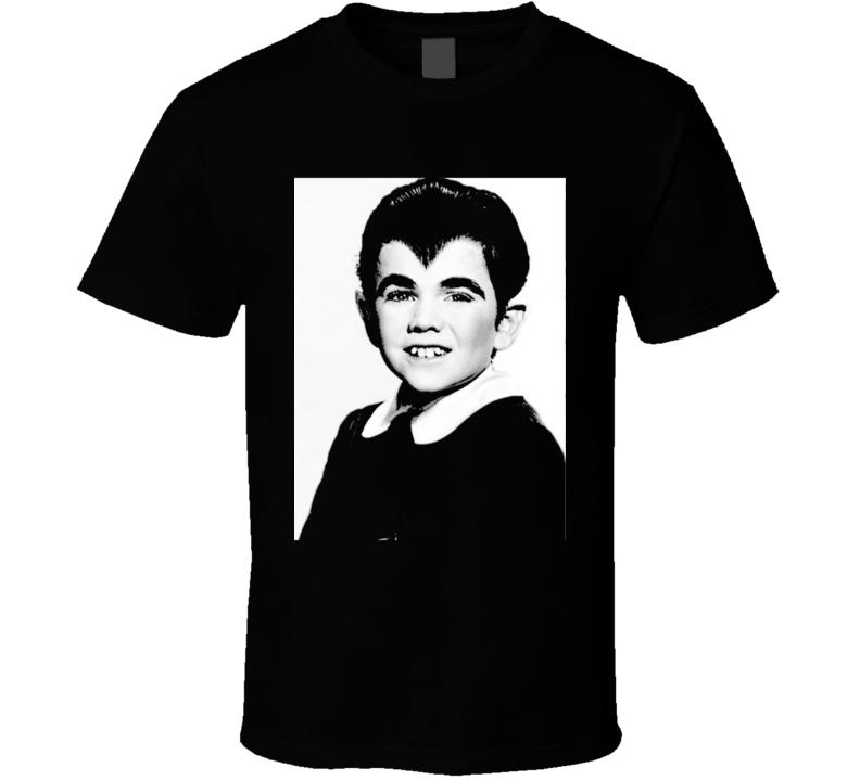 Eddie Munster Art Photo Munsters Cult Tv Show Black T Shirt