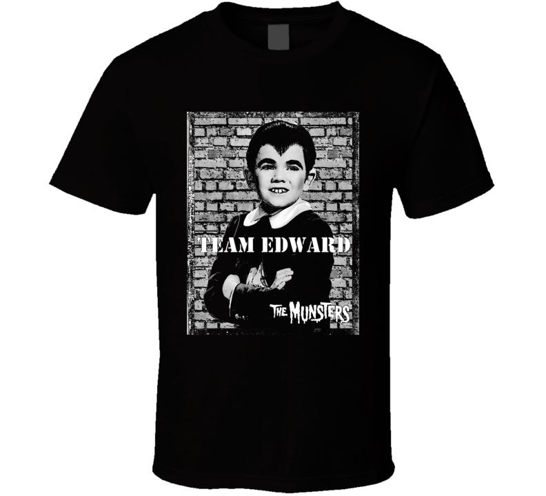 Team Edward Eddie Munster Munsters Tv Show Black T Shirt