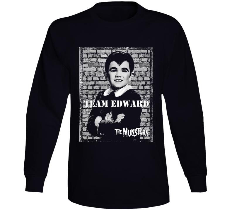 Team Edward Eddie Munster Munsters Tv Show Black Long Sleeve T Shirt
