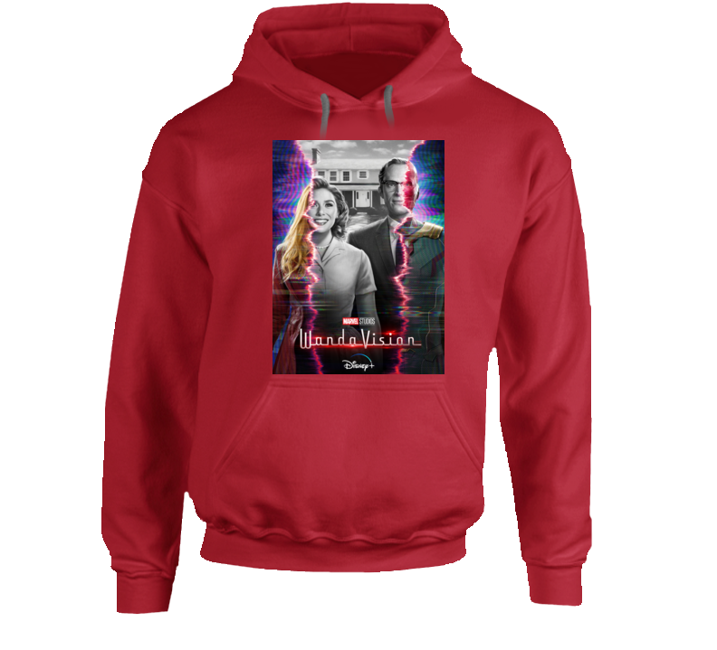 Wandavision Mcu Series Poster Scarlet Witch Vision Hoodie