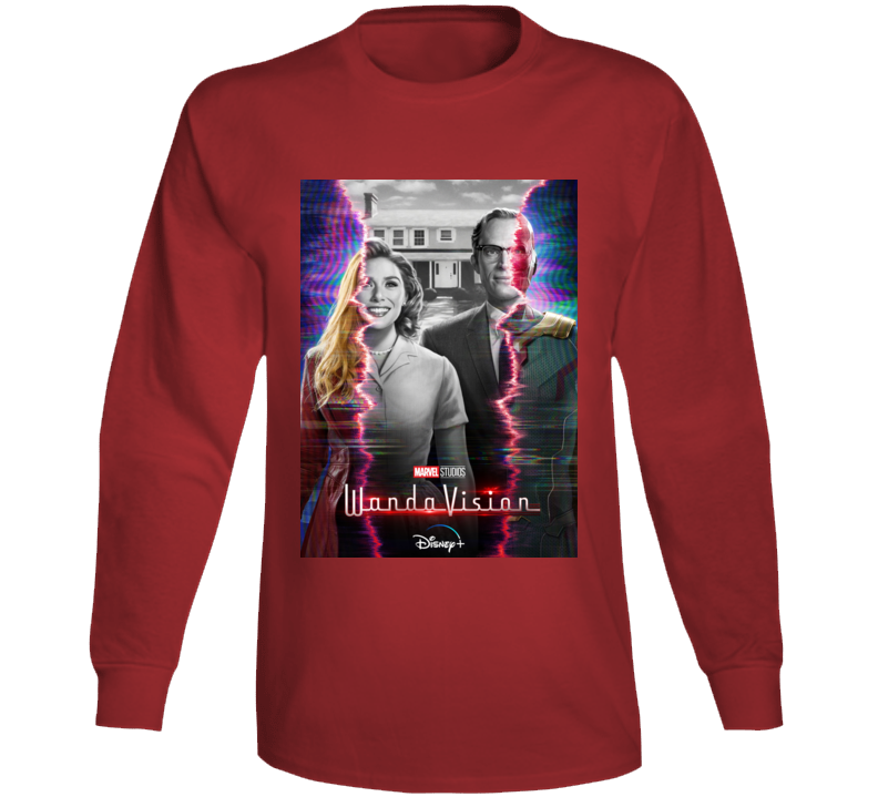 Wandavision Mcu Series Poster Scarlet Witch Vision Long Sleeve T Shirt