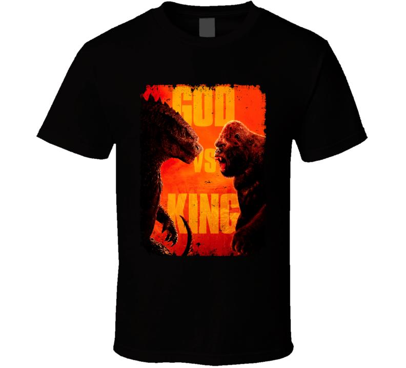 Godzilla Vs Kong Movie King Monsters Kaiju Distressed T Shirt