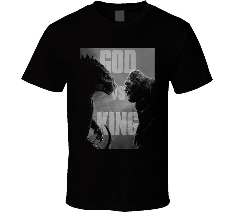 Godzilla Vs Kong Movie King Monsters Kaiju  Black T Shirt