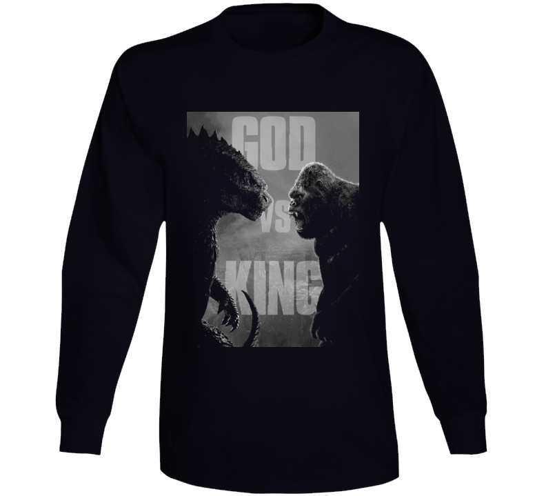 Godzilla Vs Kong Movie King Monsters Kaiju  Black Long Sleeve T Shirt