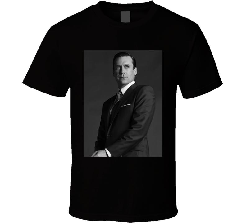 Jon Hamm Mad Men Photo Actor Black T Shirt