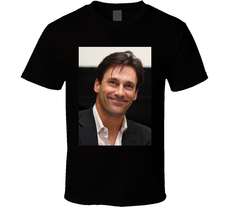 Jon Hamm Close Up Photo Actor T Shirt
