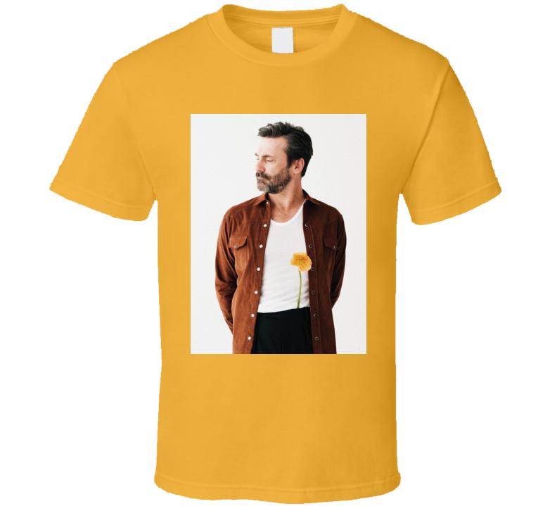 Jon Hamm Casual Photo Actor Flower T Shirt