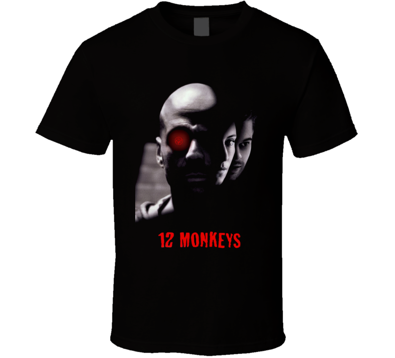 12 Monkeys Twelve Terry Gilliam Cult Movie Black T Shirt