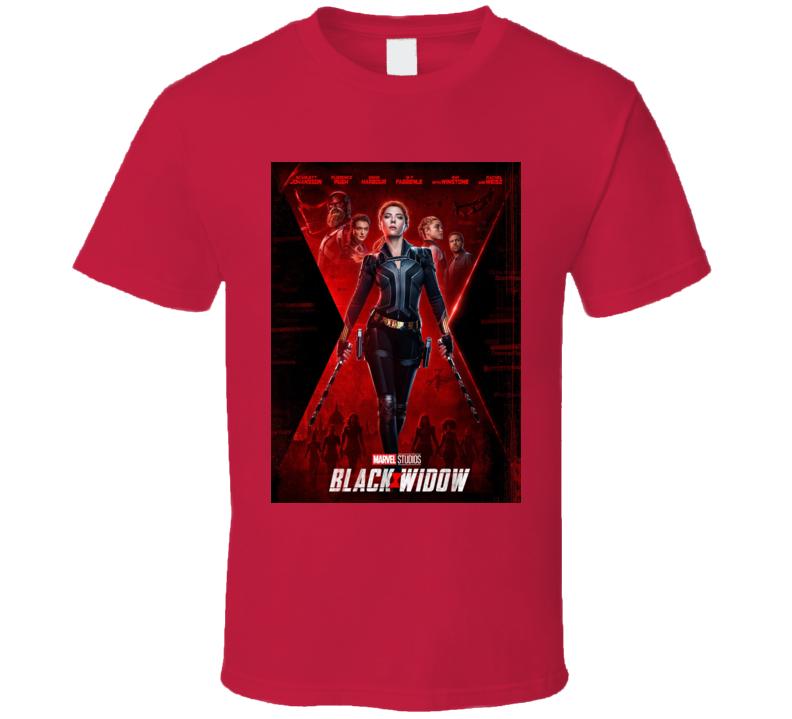 Black Widow Marvel Movie Avenger Scarlett Johansson T Shirt